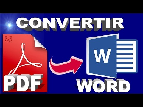 CONVERTIR * PDF A WORD *FACIL Y RAPIDO 2019