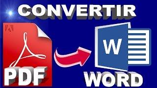 CONVERTIR * PDF A WORD *FACIL Y RAPIDO 2016
