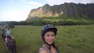 Kualoa Ranch Horseback Riding Tour Hawaii 2016