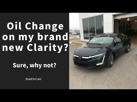 DIY Car Repair 2018 Honda Clarity Hybrid First Oil Change