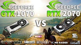 RTX 2070 vs GTX 1070 Test in 9 Games