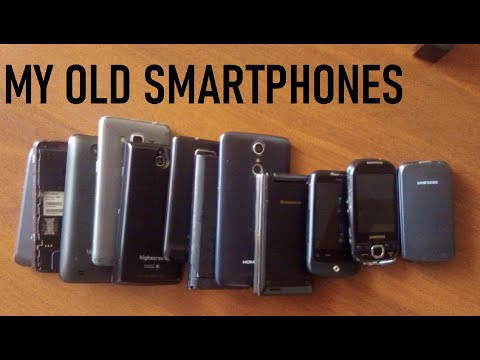 My old smartphones and phones