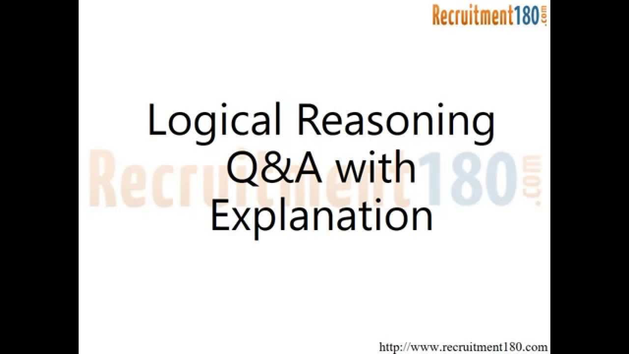 Logical Reasoning Interview Questions and Answers with ...