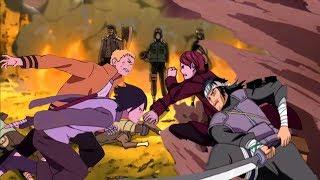 Наруто и Саске против Альянса шиноби в аниме Боруто