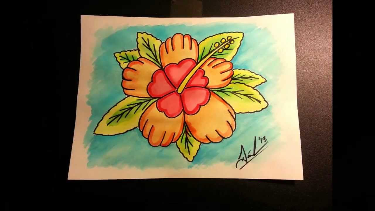 Hawaiian flower art speed painting timelapse hawaiian designs hawaiian flower art speed painting timelapse hawaiian designs izmirmasajfo