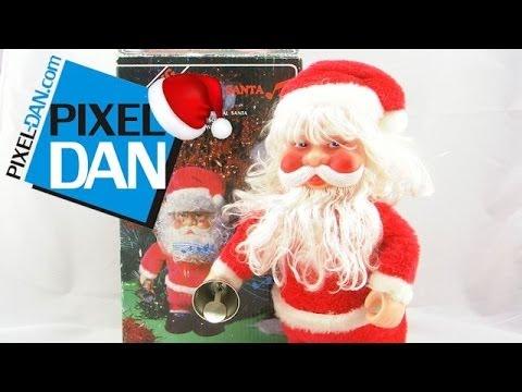 75e1b31b13da1 1980 s Walking Musical Santa Claus Holiday Decoration Video Review - CREEPY  SANTA!