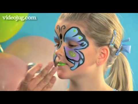 How to face paint a butterfly youtube how to face paint a butterfly solutioingenieria Gallery