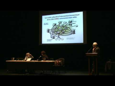 La transition sociale et écologique, Conférence de Benoît Lévesque, UQAM