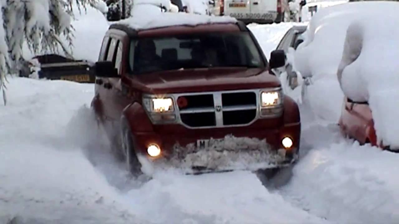 Dodge Nitro in snow  YouTube