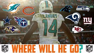 2018 NFL FREE AGENCY PREDICTIONS - JARVIS LANDRY Dolphins Titans Rams Bears Cowboys Panthers Ravens 2017 Video