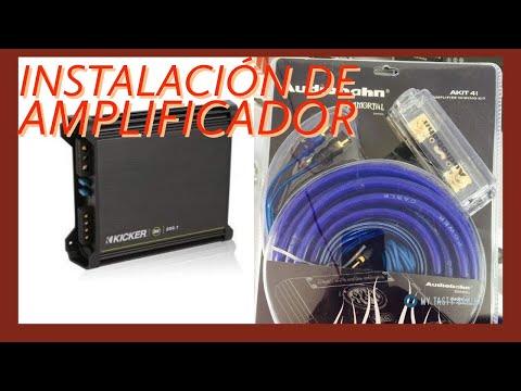 Calibre AWG 4 Kit amplificador de coche conecta 2 Amp Sub Woofer Completo Cableado Completo Kit