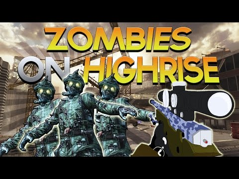 ZOMBIES ON HIGHRISE MW2! (Call of Duty Zombies Map) - Scarce