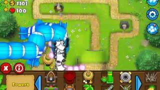 How to defeat MOAB 50x 50,000 cash Ballon Tower Defense 5