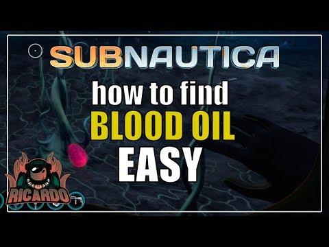 blood oil location subnautica