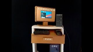 Homemade computer out of cardboard