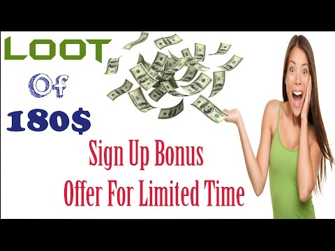 Hurry Up - Earn 180$ On Sign Up Bonus Free - Offer For Limited Time_In Hindi/Urdu (Offers And Tricks