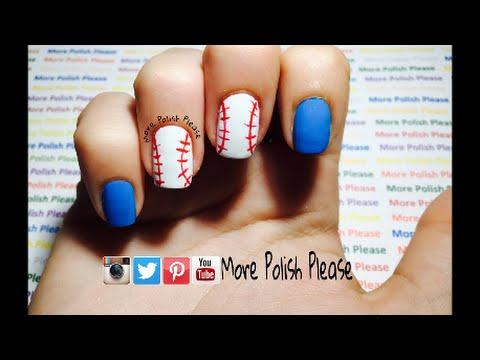 Baseball Nail Art Design Youtube