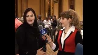 هيفاء الحسيني الفنانة ايناس طالب في اروع لقاء