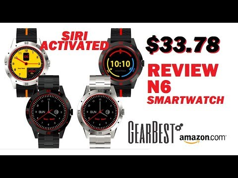 SIRI Enabled Newwear N6 IOS Andriod Smartwatch Review
