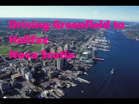 Driving Greenfield to Halifax Nova Scotia