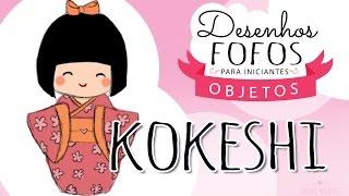 Como desenhar uma Kokeshi | How to draw Kokeshi