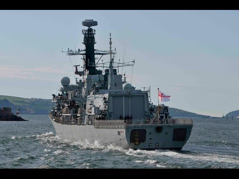 HMS SOMERSET F82 LEAVES DEVONPORT NAVAL BASE AT MUTTON COVE - 22nd May 2017