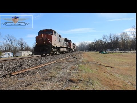 Northbound Canadian National C707 Coal Train-Glendora, Mississippi