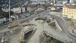 Zeitraffer Webcam Baustelle Graz Straßenbahnlinie 7 Verlängerung