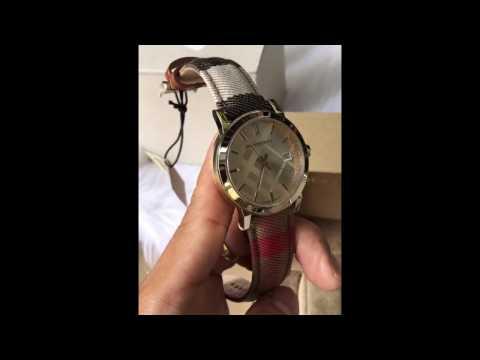 Burberry Women's Housecheck Fabric Strap Watch 38mm BU9041