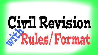 How to write application of Civil Revision: format/Rule.
