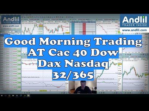 Good Morning Trading AT Cac 40 Dax 30 Dow Jones 30 et Nasdaq 100