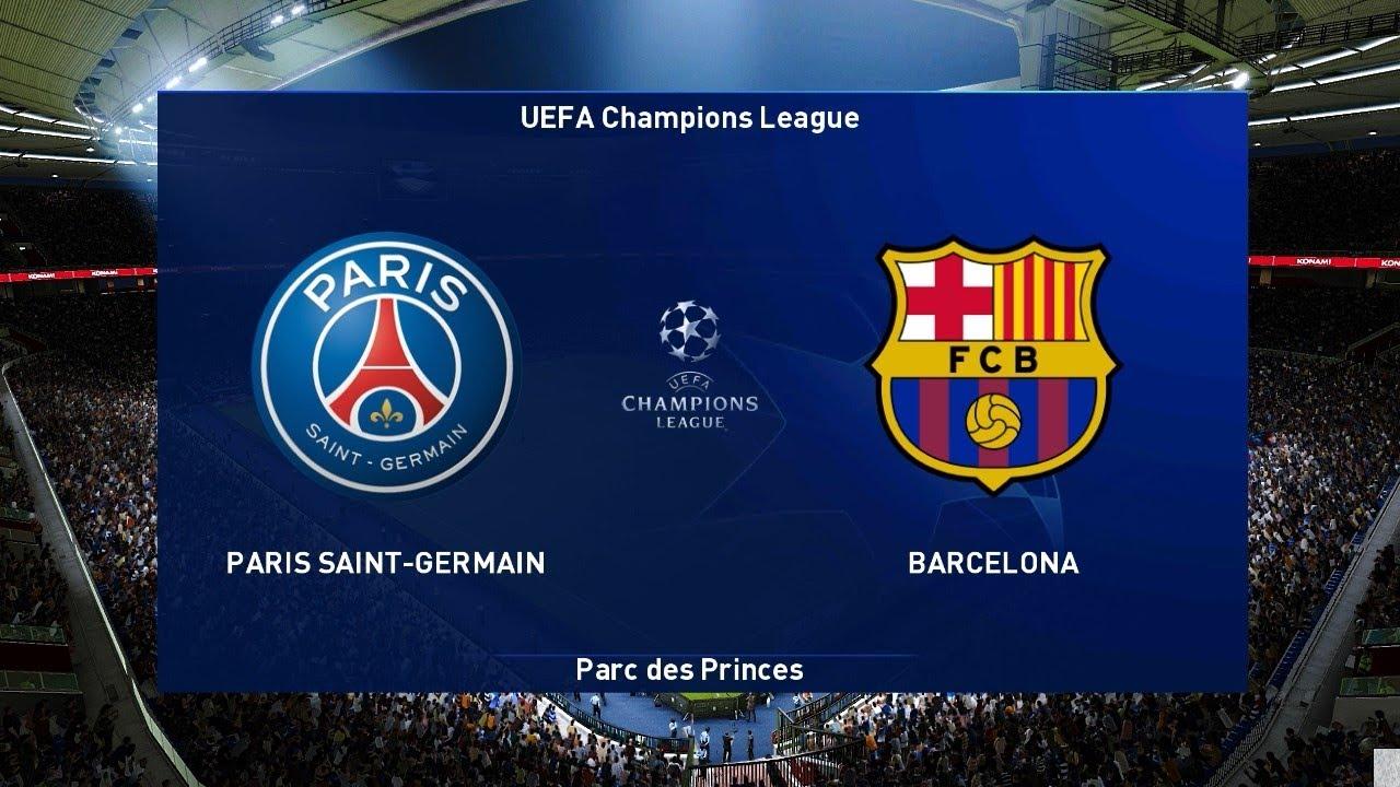 Pes 2021 Paris Saint Germain Vs Barcelona Uefa Champions League Ucl Gameplay Pc Youtube