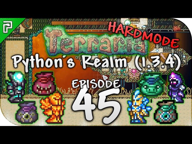 Terraria 1.3.4 Lets Play | Opening 50 Terraria Treasure Bags! | Pythons Realm [Episode 45]
