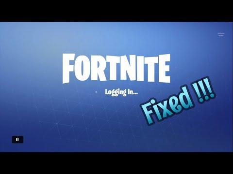FortNite Login Screen Not Working  (HOW TO FIX)