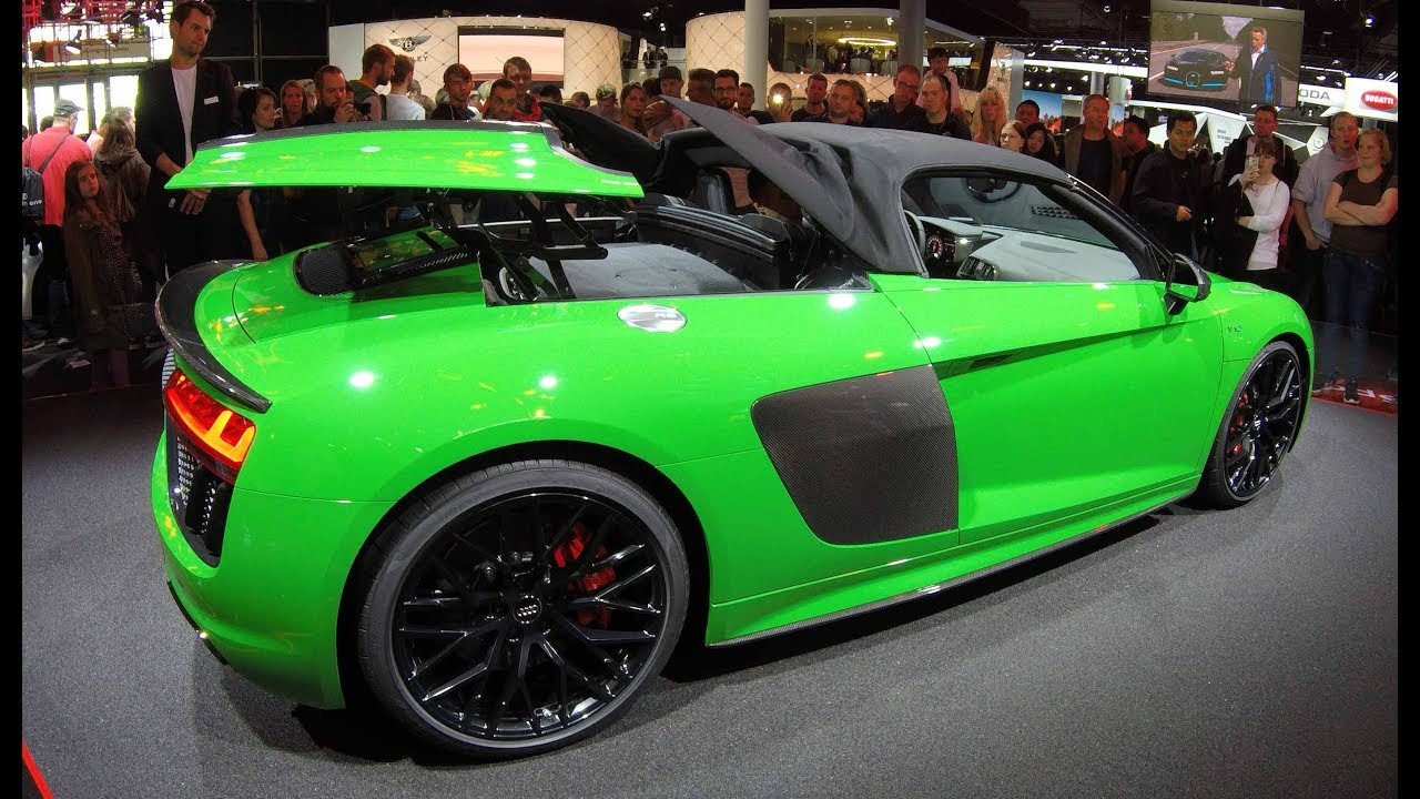 Audi R8 Spyder V10 Plus New Model Green Colour