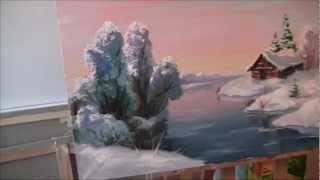 Люба Дикер Зимний пейзаж Картина маслом Холст
