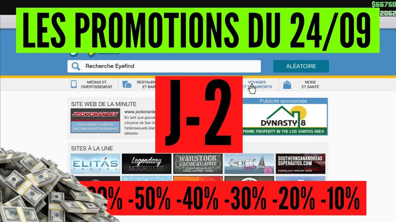 J-2 Plus que deux jours pour profiter des promotions les plus intéressantes sur GTA Online ! 22/09