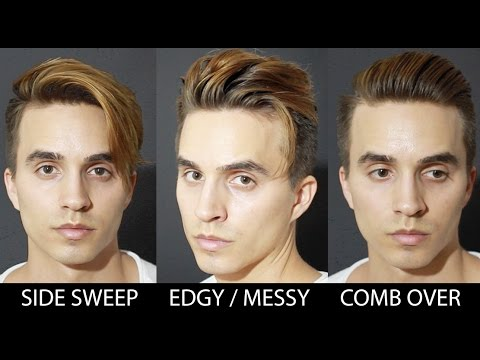 3 Quick Easy Hairstyles For Medium Hair Men S Hair 2016 Youtube