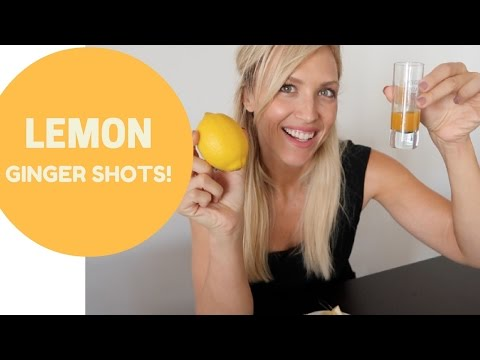 THE BEST LEMON GINGER TURMERIC SHOT!