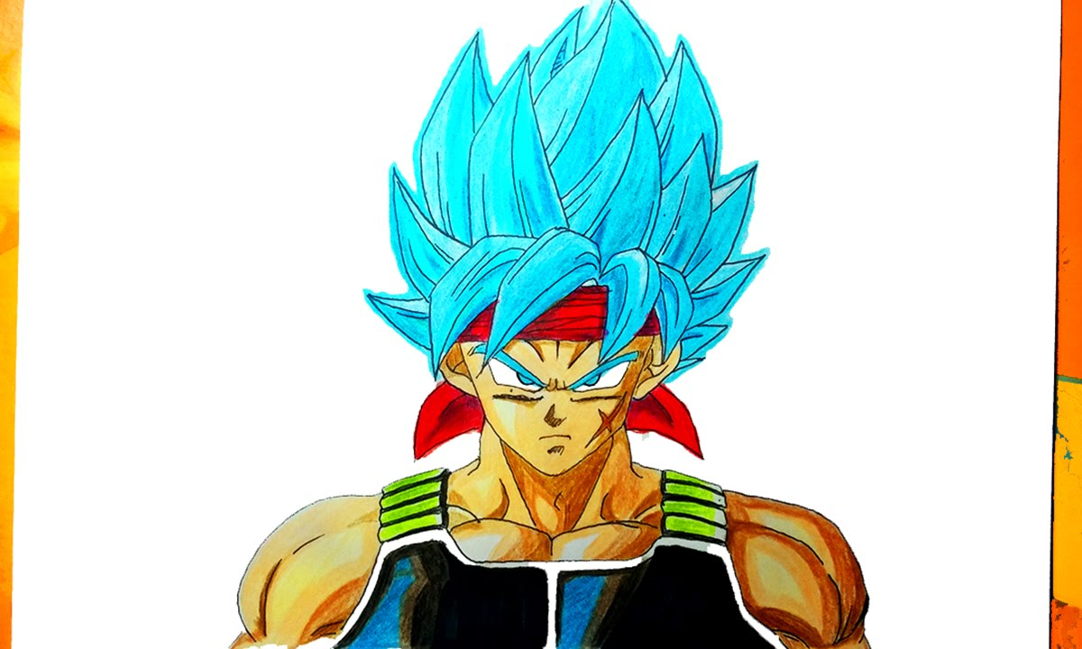 Dibujando A Bardock Ssj Dios Azul How To Draw Father Goku