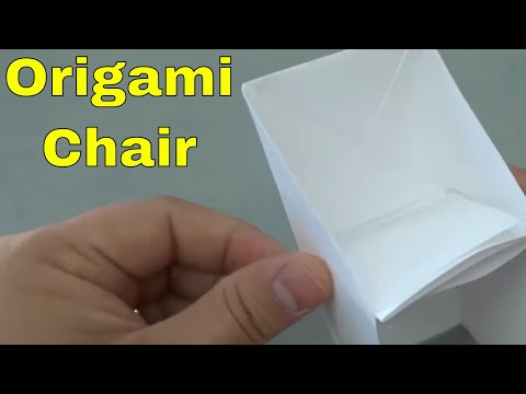 How To Make An Origami Chair-Tutorial