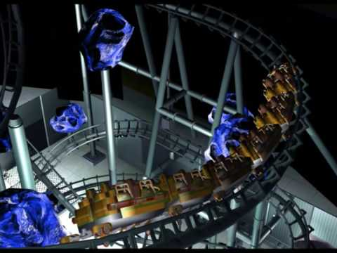 Space Mountain Rct3 Light On Trailer - YouTube