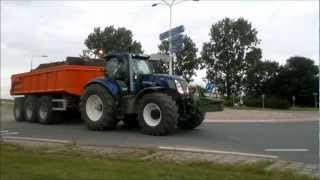 New holland bluepower!!! and fendt tractors moving ground in hoek zvl