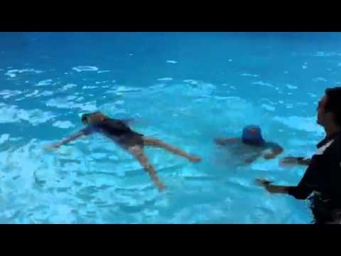porto and athen at swimming pool