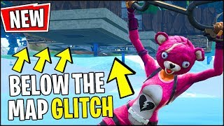 What is *HIDDEN* UNDER the Fortnite Map?? (Below The Map Glitch)