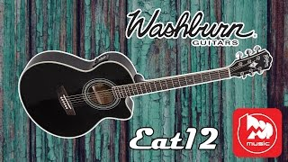 Электроакустическая гитара WASHBURN EAT12B (Festival Series Mini Jumbo Thinline Guitar)
