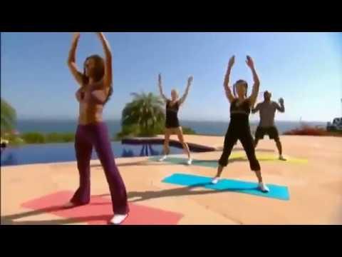 Mel B trening (45 min) cardio ABS nogi