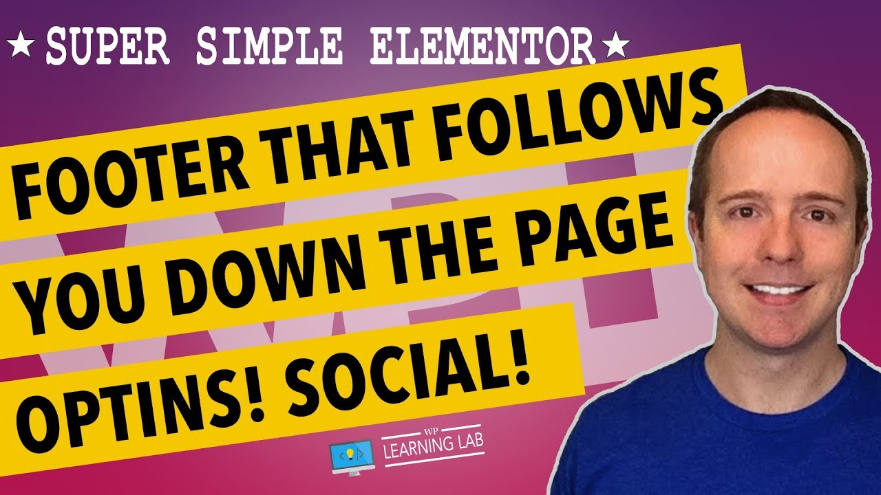 [1080p Version] 🔥 Elementor Sticky Footer For Adding Social Media Buttons