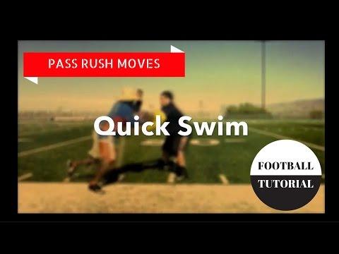 QUICK SWIM - Pass Rush Moves - American Football Tutorial - Defensive Line Drills