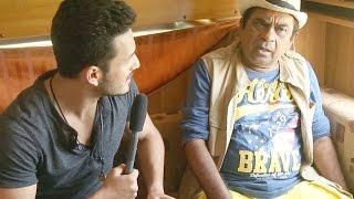 akhil interviews brahmanandam